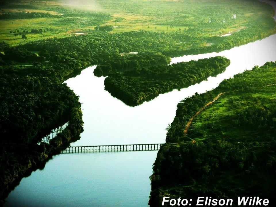 A maior ponte de madeira do Estado de MT